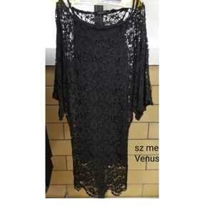 Sz Med Venus crocheted dress 2 piece slip dress